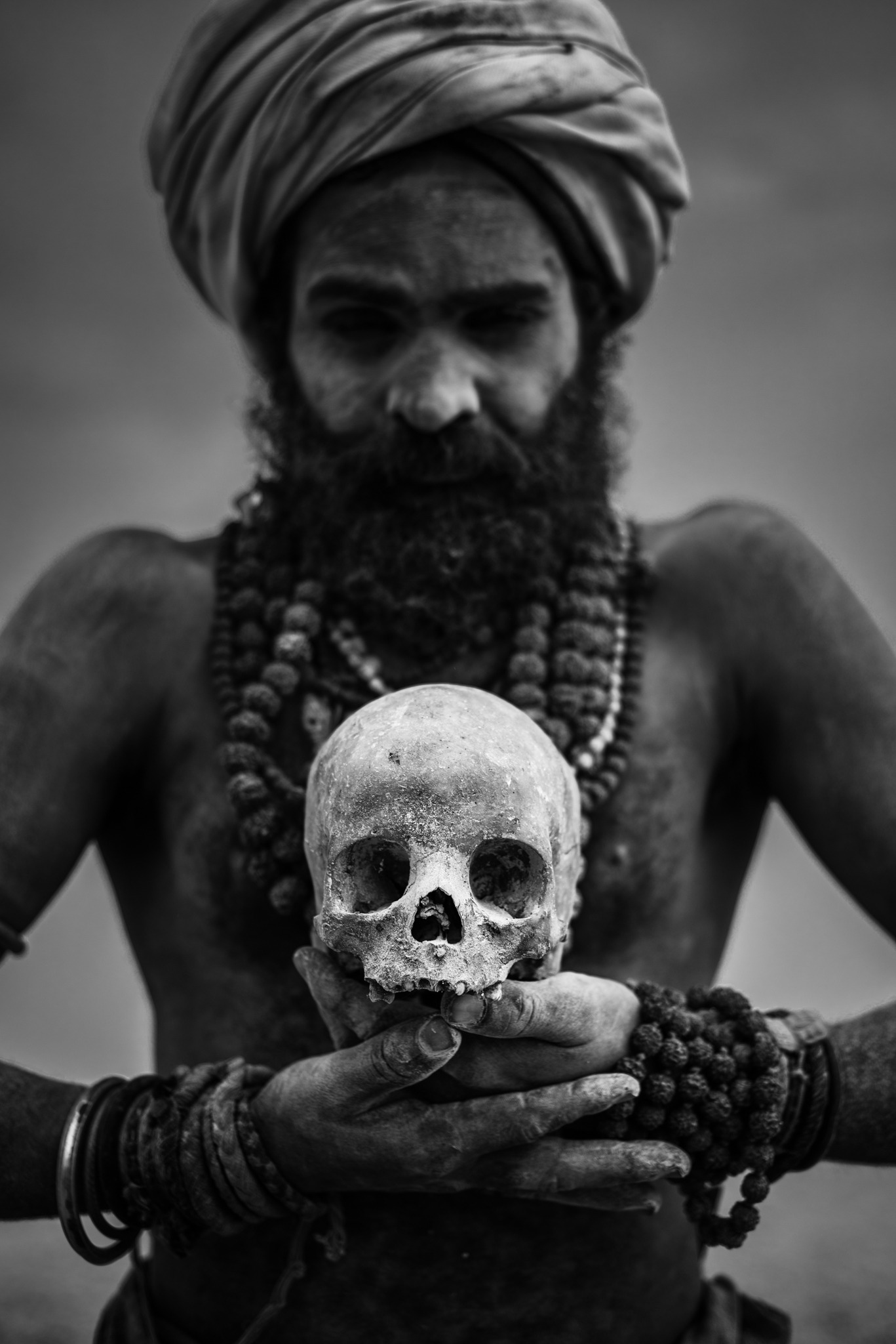 Aghori with human body